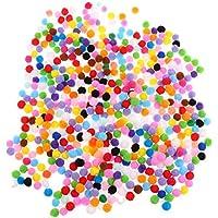 Prettyia 約500個入り カラフル 手芸 工芸品 ボール ポンポンボール イヤリング ブレスレット ピン 装飾用