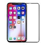 iPhone X フィルム, PUDOON 強化ガラス フィルム iPhone X 用 液晶保護フィルム 曲面デザイン 飛散防止 高透過率 業界最高硬度9H 極薄0.25mm 4D Touch対応 iPhoneX 対応