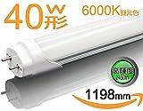 【高輝度2450lm】led蛍光灯 40w形 直管 40w形 led 蛍光管40w形120cm グロー式器具工事不要 昼光色 1本入り送料無料
