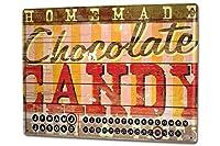 カレンダー Perpetual Calendar Holiday Travel Agency M.A. Allen chocolate Tin Metal Magnetic