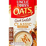 UNCLE TOBYS Oats Quick Sachets Classics Variety Pack, 12 Sachets, 420g