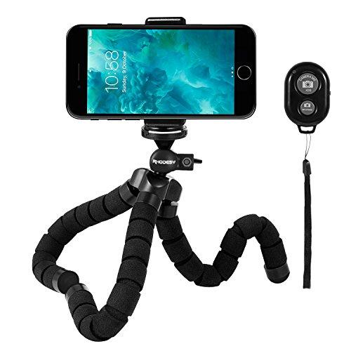 【ロデシー】 Rhodesy クネクネ三脚 Bluetoothリモコン付き タコ型三脚スタンド 三脚ホルダー ゴリラポッド 自由雲台付き デジカメ スマホン iphone 8 8 Plus Xに適用 軽量 便利 自撮り 携帯しやすい
