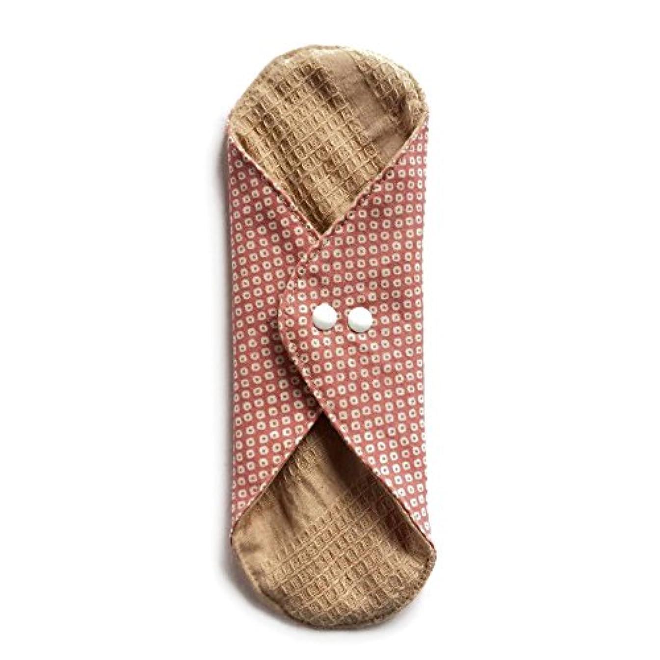 の間で症候群困惑する華布のオーガニックコットンのあたため布 Lサイズ (約18×約20.5×約0.5cm) 鹿の子(桃)