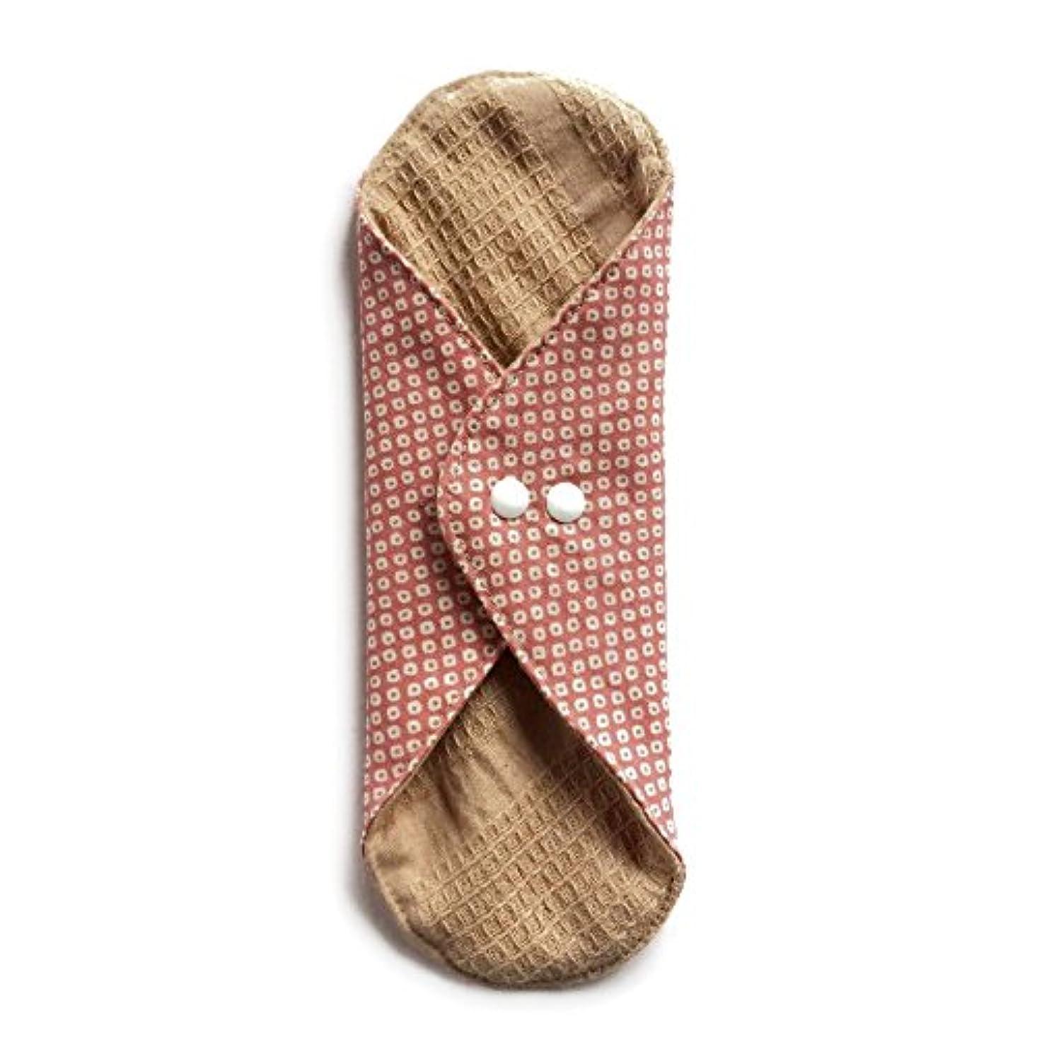 チューインガム偽物ぼかす華布のオーガニックコットンのあたため布 Lサイズ (約18×約20.5×約0.5cm) 鹿の子(桃)