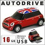 AUTODRIVE オートドライブ USBメモリー Mini Cooper S UK ミニクーパーS ユニオンジャック レッド 赤 USBメモリ 16GB