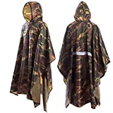 Fengz ポンチョ レインコート 防水 3-IN-1 レインポンチョ タープレインコート 登山雨具リュック背負い着用可 フリーサイズ 男女兼用 軽量 雨具 収納袋付