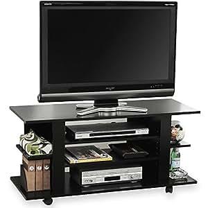 テレビ台 充実収納 キャスター付き コンパクト ~42型対応 幅100cm ブラック