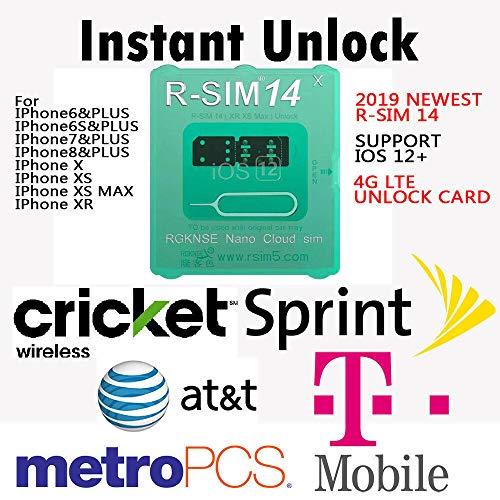ACHICOO SIMロック解除アダプタ ロック解除カード iPhone XS MAX/XR/XS/8/7/6用 4G iOS 12 R-SIM 14 RSIMナノ ユニバーサル