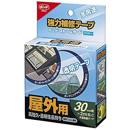 コニシ 強力補修テープ ボンドストームガードクリヤー #04930 30mm -