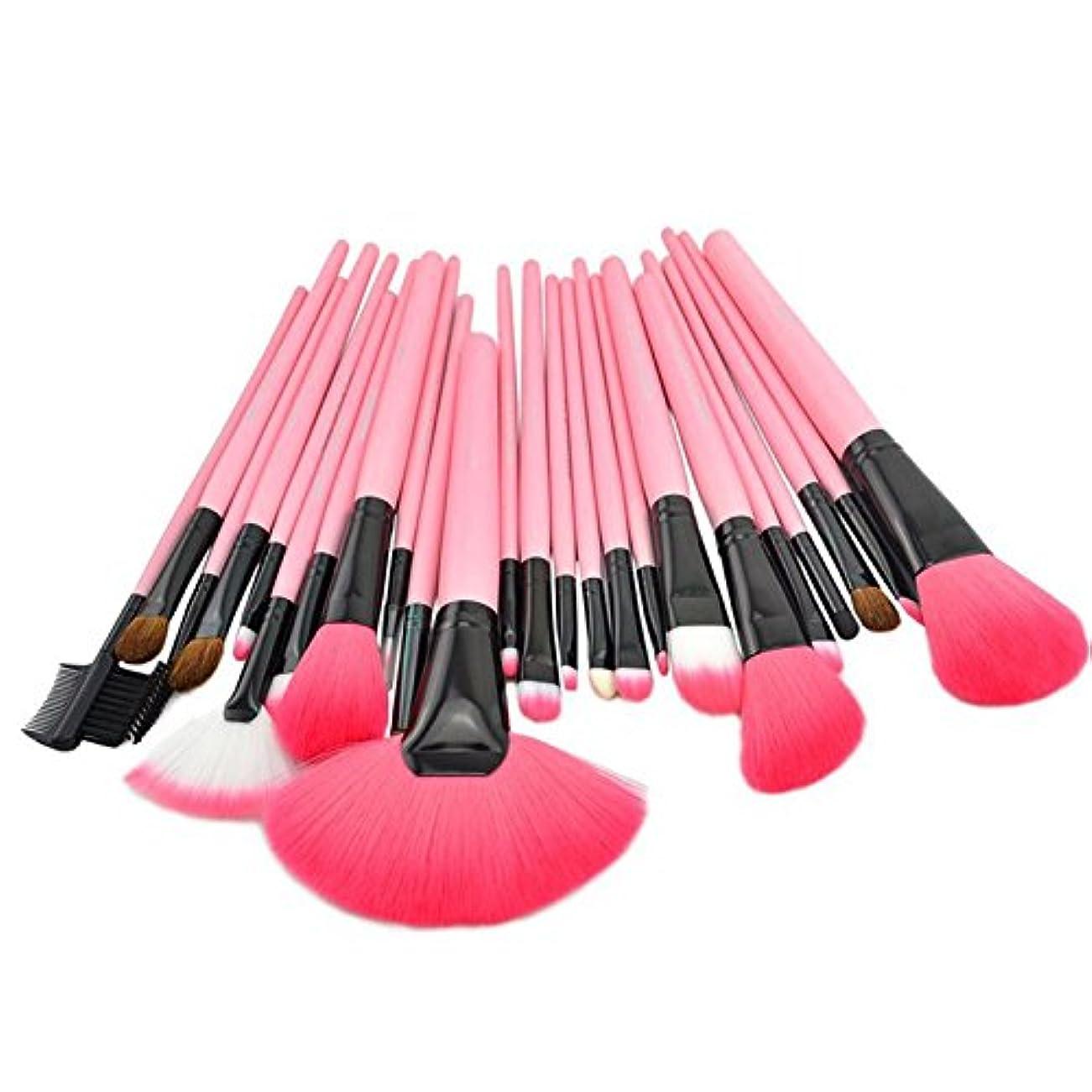 アクセサリーかける通り抜ける(プタス)Putars メイクブラシ メイクブラシセット 24本セット ピンク 高品質 化粧ブラシ ふわふわ お肌に優しい 毛量たっぷり メイク道具 プレゼント