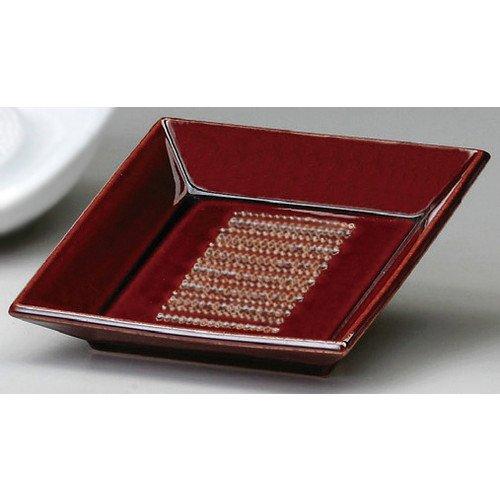 角おろし皿(大)大根[ 15.2 x 15.2 x 3.5mm ]【 オロシ皿 】【 料亭 旅館 和食器 飲食店 業務用 】