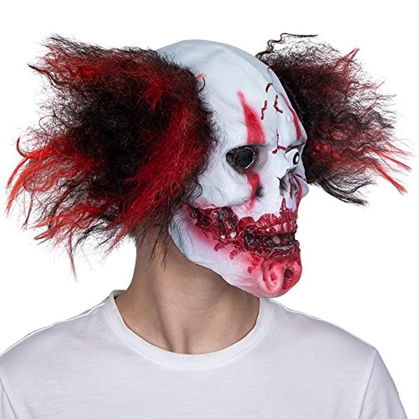 印象派ブロックする地域のハロウィーンホワイトマスク大人男性フルフェイスホラー骷髅悪魔ラテックスフードなりすまし怖いマスクダンス