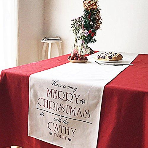Anyasun クリスマス テーブルランナー 4枚ランチョン...