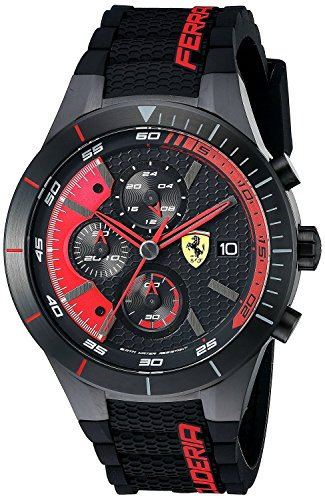 フェラーリ Ferrari Men's 0830260 REDREV EVO Analog Display Quartz Black Watch [並行輸入品]