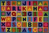 LA Rug Numbers & Letters Rug 51x78 [並行輸入品]