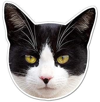 kmag 猫の顔マグネット 黒白ねこ