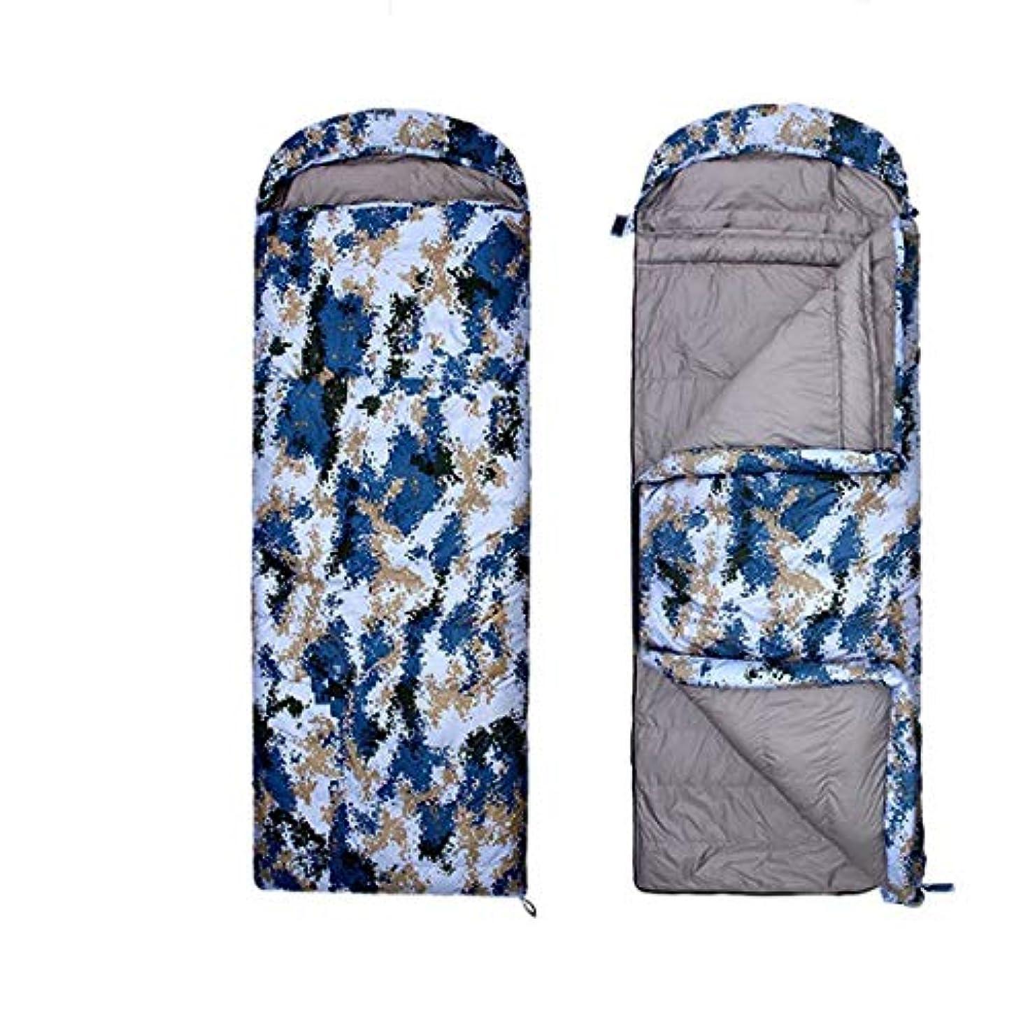 イライラするブローホール継続中BALLEEY 独身者用キャンプスリーピングバッグ3シーズン暖かく 理想的なキャンプ用品、ハイキング、そして迷彩/軽量アウトドア用多機能で便利な寝袋用のバックパッキング