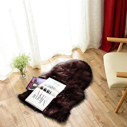 [해외]Melodieux 양가죽 양탄자 세탁 인공 모직 부드러운 털이 부드러운 촉감 객실 인테리어 바닥 난방 대응 소파 양탄자 양탄자/Melodieux Mouton rug washable artificial wool fluffy fluffy soft touch room interior floor heating compatible sofa r...