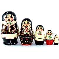 モルドバNesting人形5 pc。Russian Matryoshka。元の誕生日ギフト。