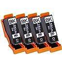 【 ブラック 4本セット 】 エプソン 用 KUI ( クマノミ ) 互換インク 【 増量版 ブラック ( KUI-BK-L 互換) 】ISO14001/ISO9001認証工場生産商品 残量表示対応ICチップ 1年保証 インクのチップスオリジナル 対応機種: EP-879AB / EP-879AR / EP-879AW / EP-880AB / EP-880AN / EP-880AR / EP-880AW