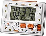 miffy ( ミッフィー ) 目覚まし時計 キャラクター 電波 デジタル ミッフィーR126 白 リズム時計 8RZ126MM03