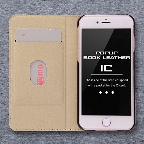 レイ・アウト iPhone7ケース ディズニー 手帳型 レザーケース(ICカード /スタンド機能) ポップアップ スタンディング/ミッキーマウス RT-DP12J/MK