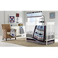 Whale of a Tale 4 Piece Baby Crib Bedding Set by Nautica Kids by Crown Crafts