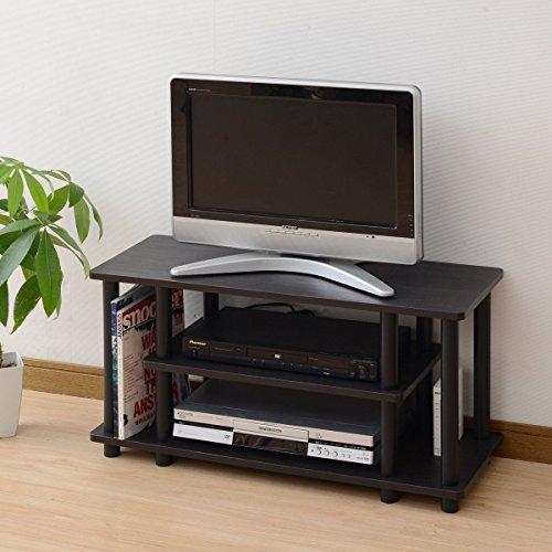 山善 テレビ台 ローボード 32型 幅80 簡単組立て ダークブラウン YWTV-8030(DBR3BK)