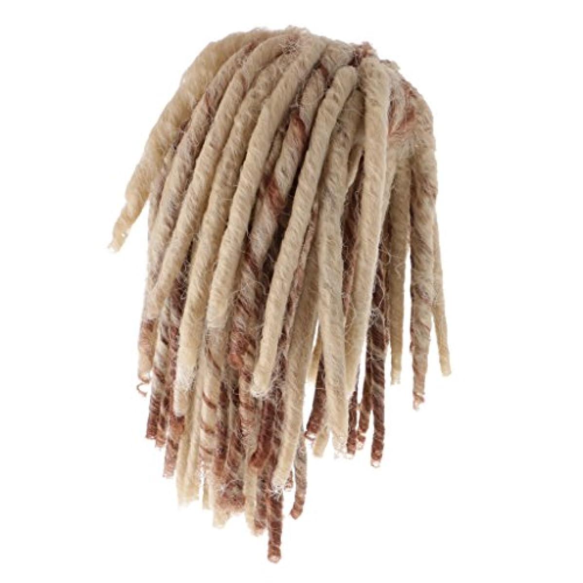 言語ストライプ無謀Dovewill 人形用ウィッグ  ドレッドかつら  カーリー かつら  髪 ヘア 18インチドール用  DIY修理用品  全2色  - ブラウン