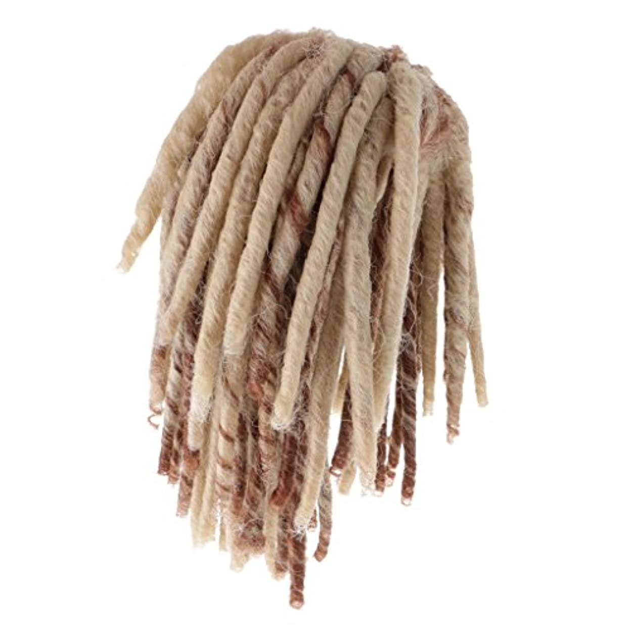 流鰐ブラインドDovewill 人形用ウィッグ  ドレッドかつら  カーリー かつら  髪 ヘア 18インチドール用  DIY修理用品  全2色  - ブラウン