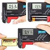 Hapurs バッテリーテスター LCD液晶画面 デジタル 乾電池やボタン電池の残量チェック 電池残量計 電池計測チェッカー