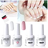 Vishine Gel Nail Polish French Manicure Set Top Coat Base Coat French White Light Pink Gel Color For Nail Art