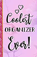 Coolest Organizer Ever!: Organizer Gifts for Women: Pink Marble Notebook To Write In