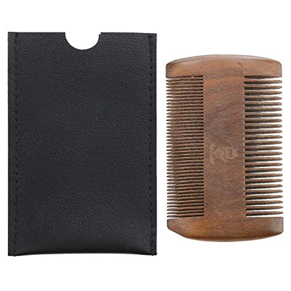 戻るボンドカウボーイ木製口ひげ静電気防止シェーパースタイリングくし