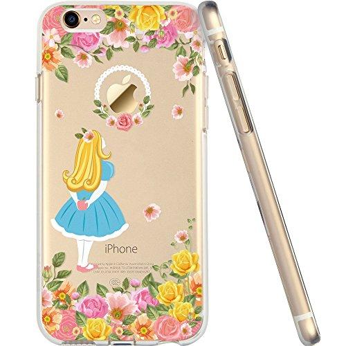 iPhone6s ケース クリア ESR iPhone6 ケース シリコン ソフト耐衝撃 保護キャップ付き iPhone6/6s専用カバー 4.7インチ(花国のアリス・マニアシリーズ)