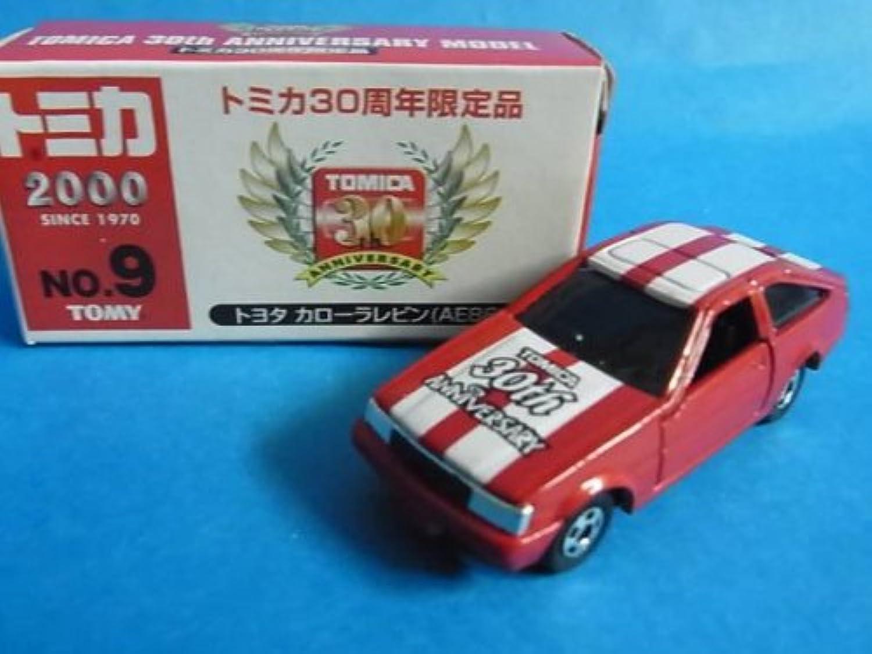 トミカ ミニカー 赤箱 30周年限定品No.9 トヨタ カローラ レビン(AE86)
