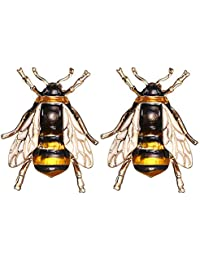 RINHOO FRIENDSHIP Cute Honeybee Animal Insect Brooches Pin Colorful Crystal Rhinestones Bee Shape Corsages Scarf Clips Jewelry for Women Girls