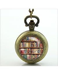 ヴィンテージブックス懐中時計ロケットネックレスレトロスタイルの懐中時計ネックレスジュエリー洋書