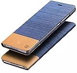 iPhone SE ケース/ iPhone 5 ケース/ iPhone 5S ケース,Vandot 3 In 1 セット超薄 高級 ビジネス タイプ PUレザー フリップ 財布型 保護 ケース [ライトブルー] 横置きスタンド機能付き, USB データケーブル + タッチペン