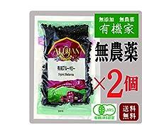 無農薬 有機 ブルーベリー 60g×2個★ 送料無料 ネコポス便で配送 ★ アントシアニンを多く含んでいるのがブルーベリー。有機砂糖使用。 無添加