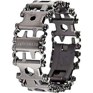 Leatherman Tread Bracelet Travel Friendly Wearable Multitool, Black [並行輸入品]