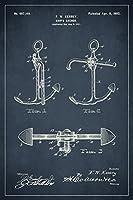 ボートアンカーNautical特許アート印刷