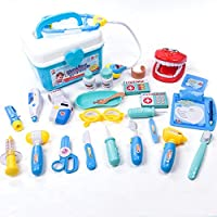 Qiyun Pretend Playおもちゃ25個子供用シミュレーション医学ボックスドクターおもちゃセットFunny Pretend Playナース医療キットfor Children CY-1122-YYX2