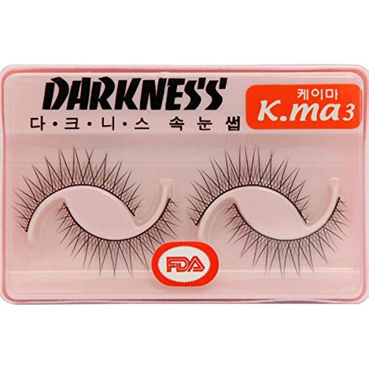 パレード平手打ち穏やかなDarkness Faux Eye Lashes ダークネス 人工まつげ:K-MA3[並行輸入品]