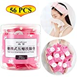 Coin Tissues | Compressed Towels | Camping Wipes | Poratble Disposable Toilet Paper Tablets for Travel Backpacking Camping Home Bathroom Beauty Salon Outdoor Sports(56 PCS)
