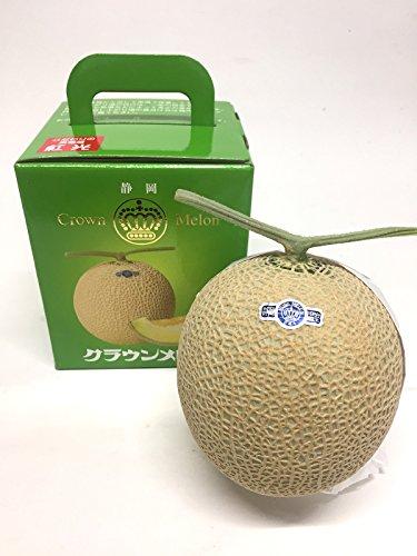 高級 静岡産 クラウンマスクメロン マスクメロン クラウンメロン 母の日 父の日 贈答用 手土産 果物 フルーツ 中玉(1.2キロ前後) ギフトやお誕生日最適! (1玉入り)