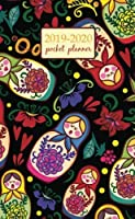 2019-2020 Pocket Planner: 2 Year Pocket Monthly Calenda Planner 4 x 6.5 inch Russian dolls and floral elements design (2 Year Pocket Monthly planners) [並行輸入品]