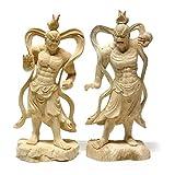 楠 仁王像 32cm 木彫り 仏像