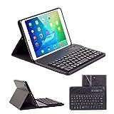 Ewin® ipad mini1 ケース/ipad mini2 ケース/ipad mini3 ケース キーボード付き Bluetooth分離式キーボード保護ケース 高品質PUレザー素材スタンド機能付き bluetooth keyboard case (簡易日本語説明書と一年の保証付き)(ブラック)