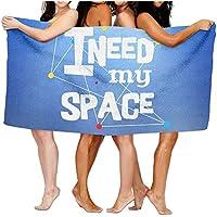 ビーチタオルI Need My Space Go to Outer Space Galaxy 80 cm X 130 cmソフト軽量吸水性のバス水泳プールヨガピラティスピクニックブランケットタオル